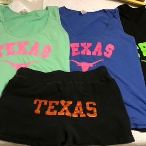 Texas Longhorn tank tops and short